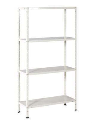 B Q Value 4 Tier Bolted Metal Shelving Unit W 750 H 1500 400 x 300
