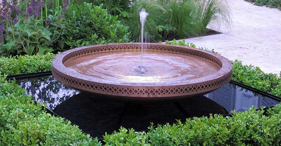 Moorish Inspired Water Feature Bowl Gardens