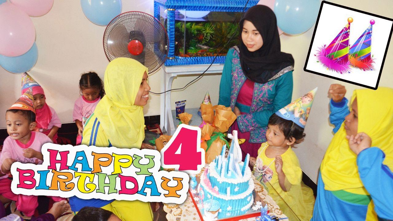 Happy Birthday Nafisa 4th, Very Joyful Acara Ultah Nafisa