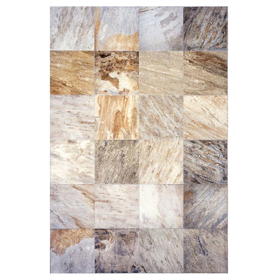 Shop Interceramic Pack Slate Supremo Winter Ceramic Floor Tile - 13x13 tile lowes