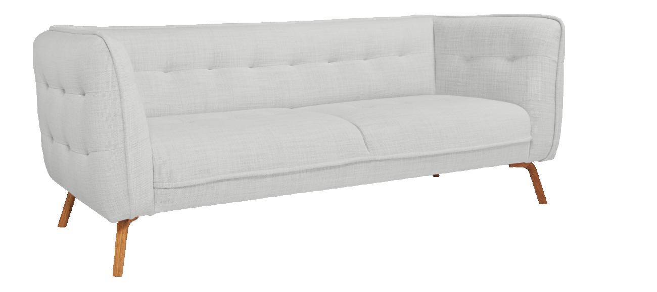 Como Canape 3 Places En Tissu Fasoli Gris Clair Pieds Chene Love Seat Furniture Habitats