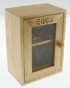 Stylish Wooden Egg Holder Cabinet Cupboard Storage Rack Amazonco