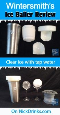 Check out NickDrinks.com's review of Wintersmith's Ice Baller. Clear ice with just tap water.