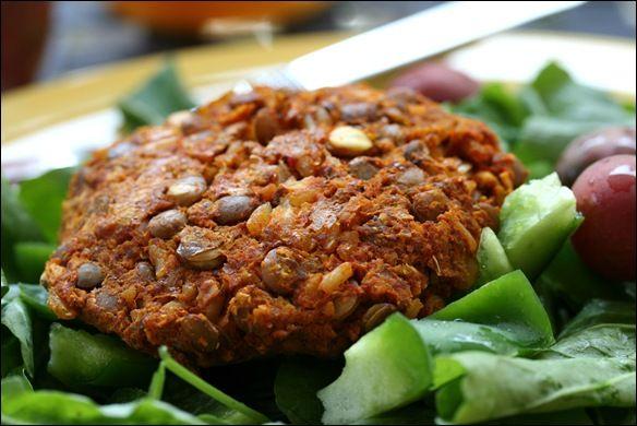 Receta fácil de hamburguesas vegetarianas con lentejas - Las mejores hamburguesas veganas