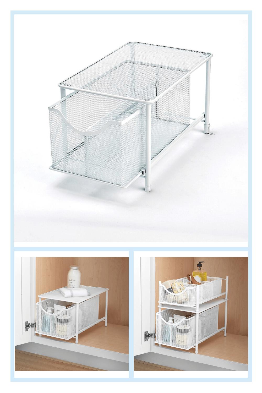 Org Metal Mesh Kitchen Cabinet Organizer
