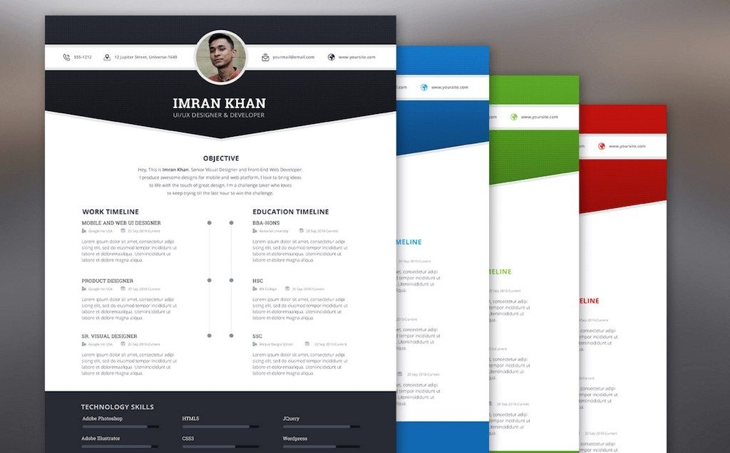 Best Free Resume Templates In Psd And Ai In 2020 Colorlib In 2020 Best Free Resume Templates Resume Templates Resume Template Free