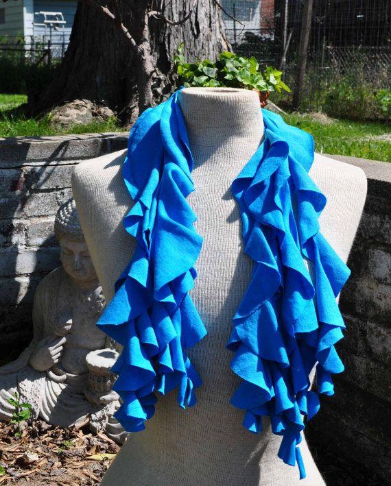 Sky Blue Twirly T Shirt Scarf