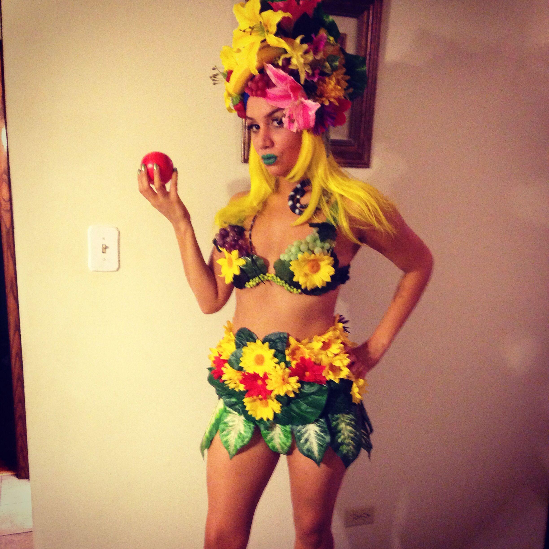 Full costume eve fruit girl hula girl tropical   My Costume Creations   Pinterest   Hula ...