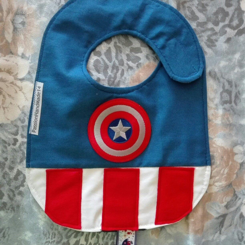 Superman bib, Marvel bibs, waterproof bibs, cotton bibs, handmade ...