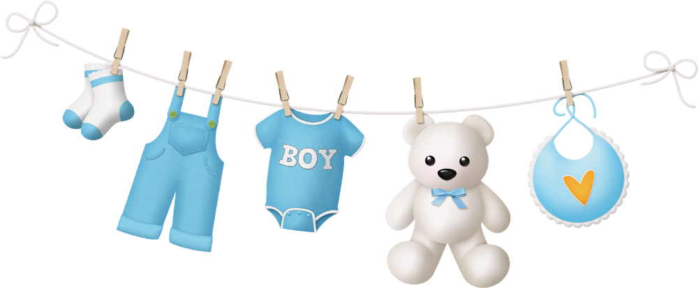Baby Boy Clothes Line Png Baby Clip Art Baby Girl Clipart Baby Shower Deco
