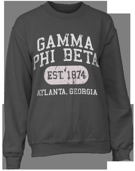 Gamma Phi Beta Athletic Department Sweatshirt