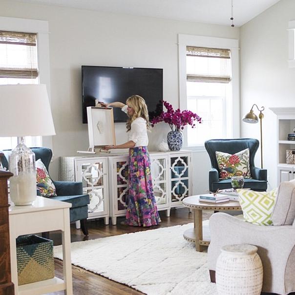 6Th Street Design School  Kirsten Krason Interiors  Living Beauteous Living Room Tv Console Design Decorating Inspiration