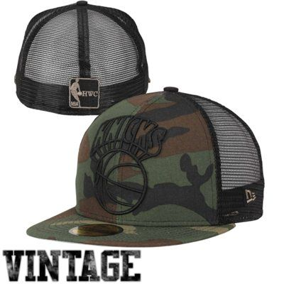 a360ae7d6f2 New Era New York Knicks 59FIFTY Woodland Camo Mesh Fitted Hat - Camo Black