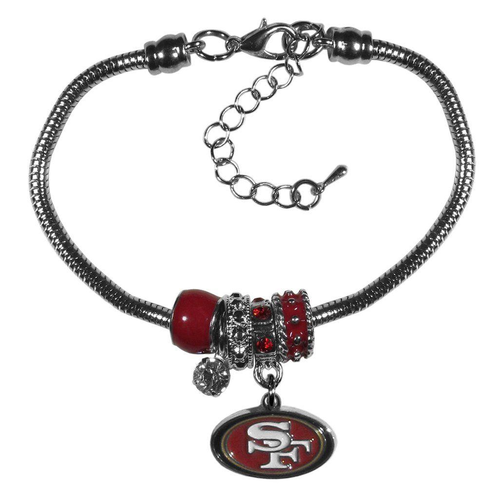 6ec8f115c San Francisco 49ers Bracelet Euro Bead Style