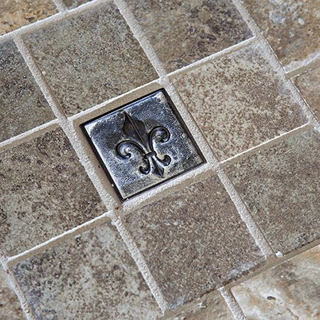 Metal Fleur De Lis Accent Tile For Your Backsplash Master Bathroom Or Floor