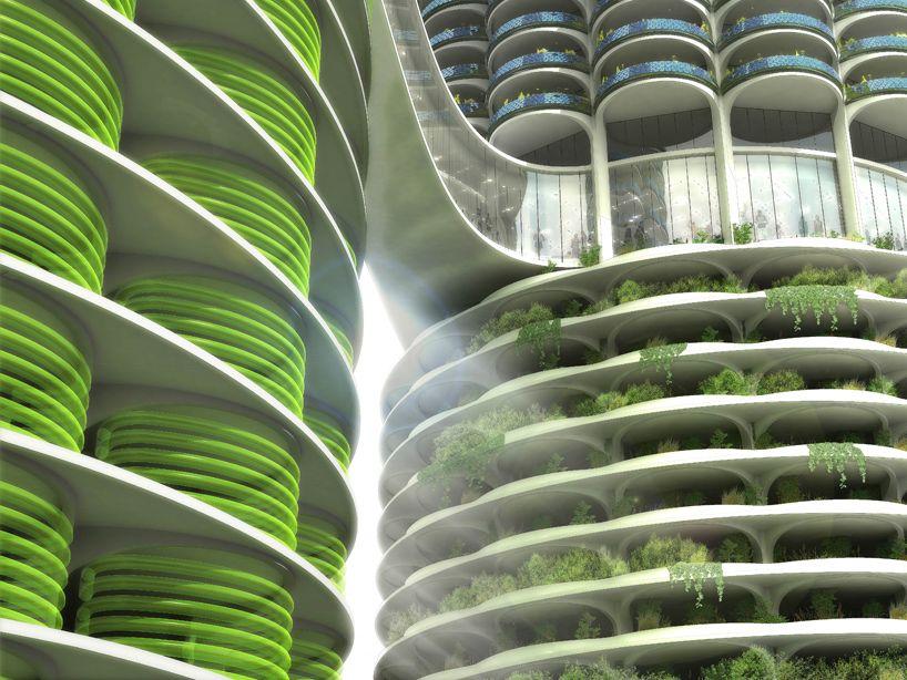 Influx Studio Algae Green Loop Green Architecture Marina City
