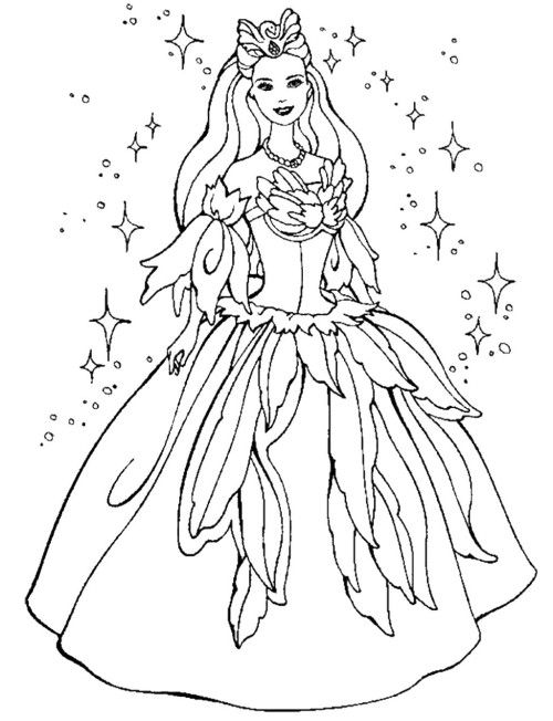 Beautiful Barbie Coloring Pages Barbie Coloring Pages Disney Coloring Pages Princess Coloring Pages