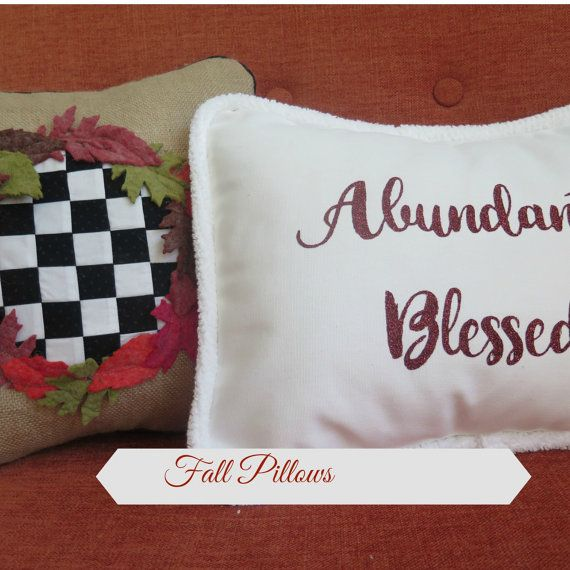 2 Fall Pillow Covers home decor fall decor by SimplylovelythingsCo