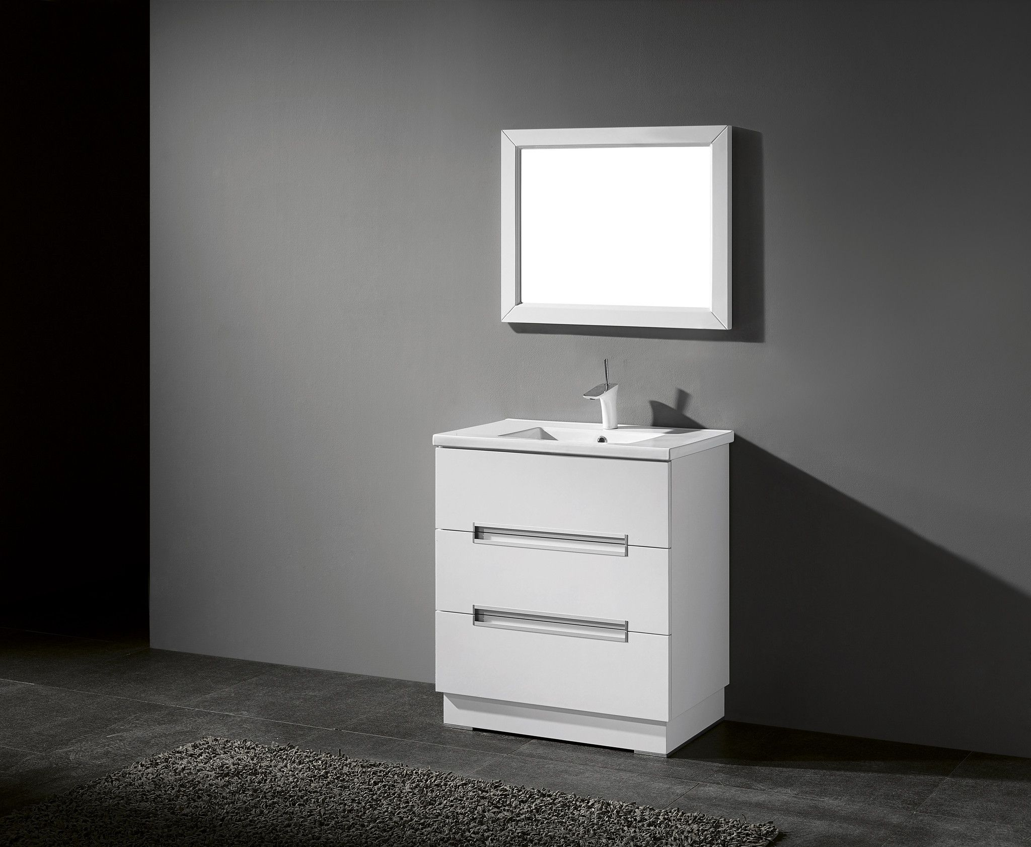 Adornus VERONA 30 HGW C High Gloss White Vanity