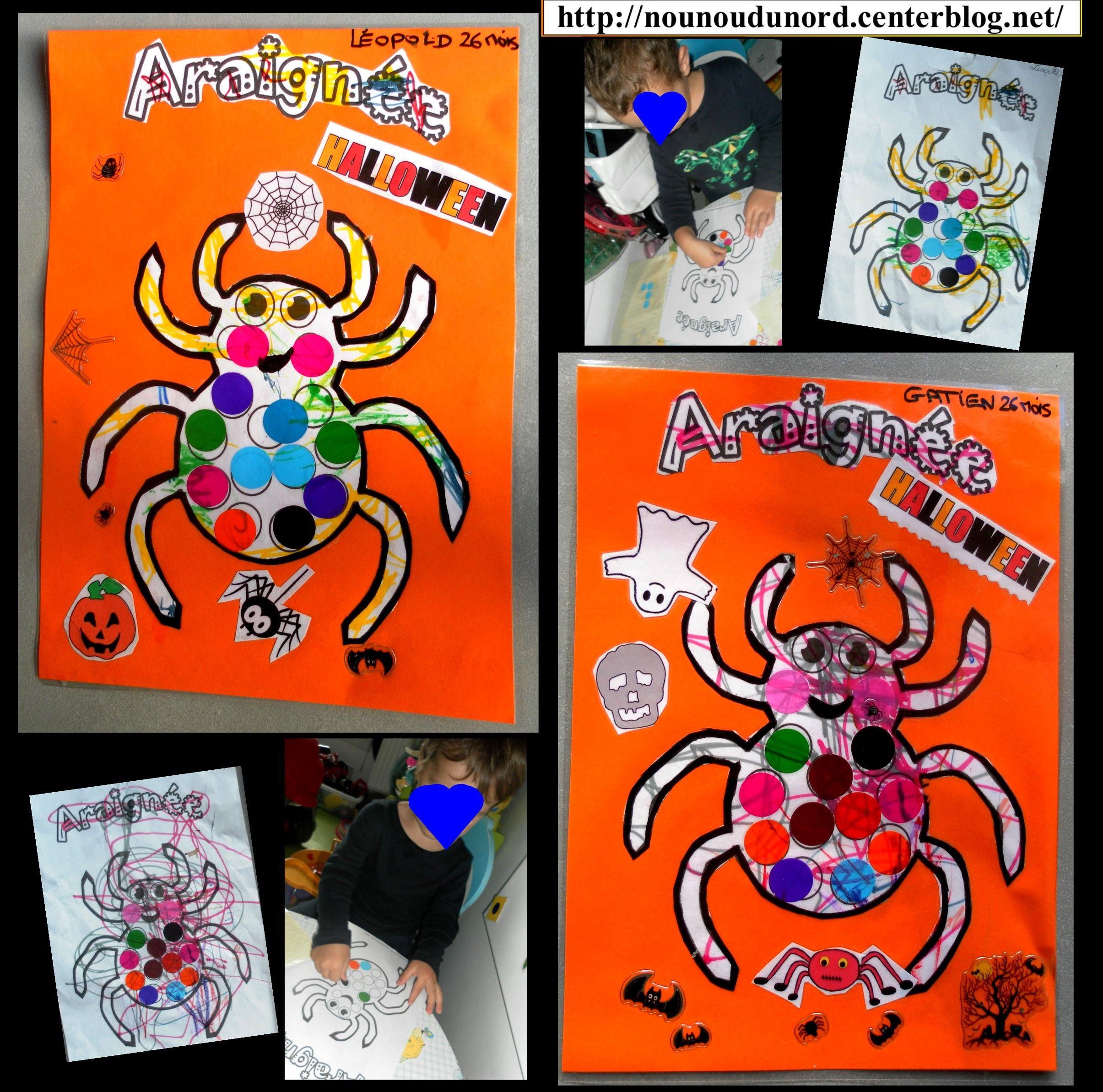 Activité pour Halloween Les araignées Activités
