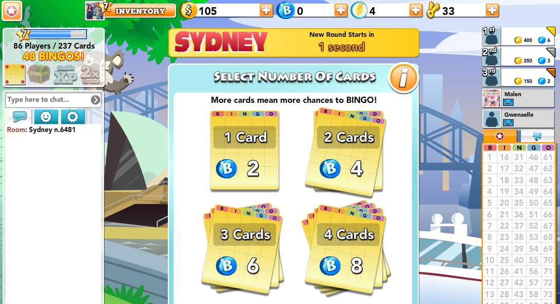 """Play the """"BINGO Blitz"""" at the same time with players from"""