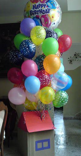 Tu decides el tama o de la casita y la cantidad de globos - Decoraciones de comedores ...