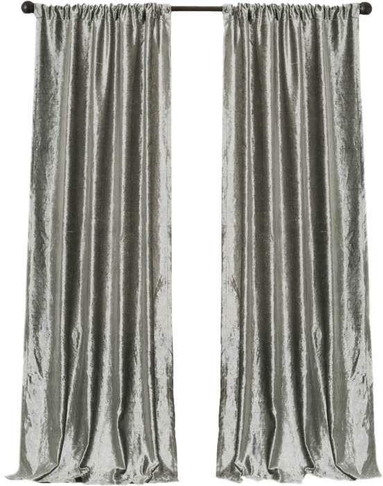 Willa Arlo Interiors Sofie Solid Rod Pocket Curtain Panels Rod