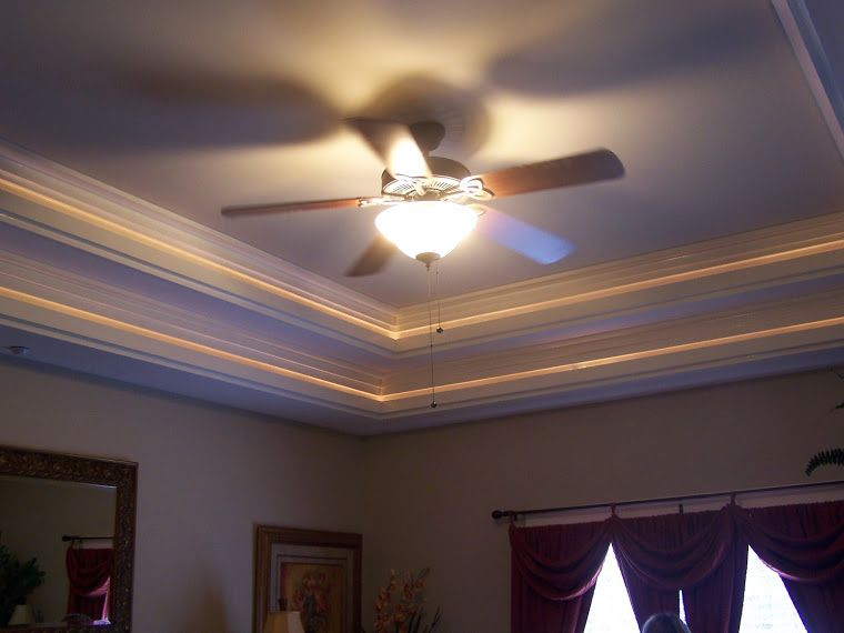Tray Lighting Double Ceiling With Hidden Lights I