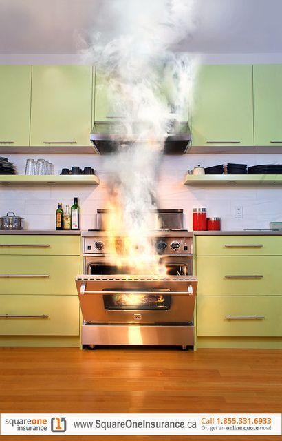 Stove On Fire Square One Home Insurance Kitchen Appliances