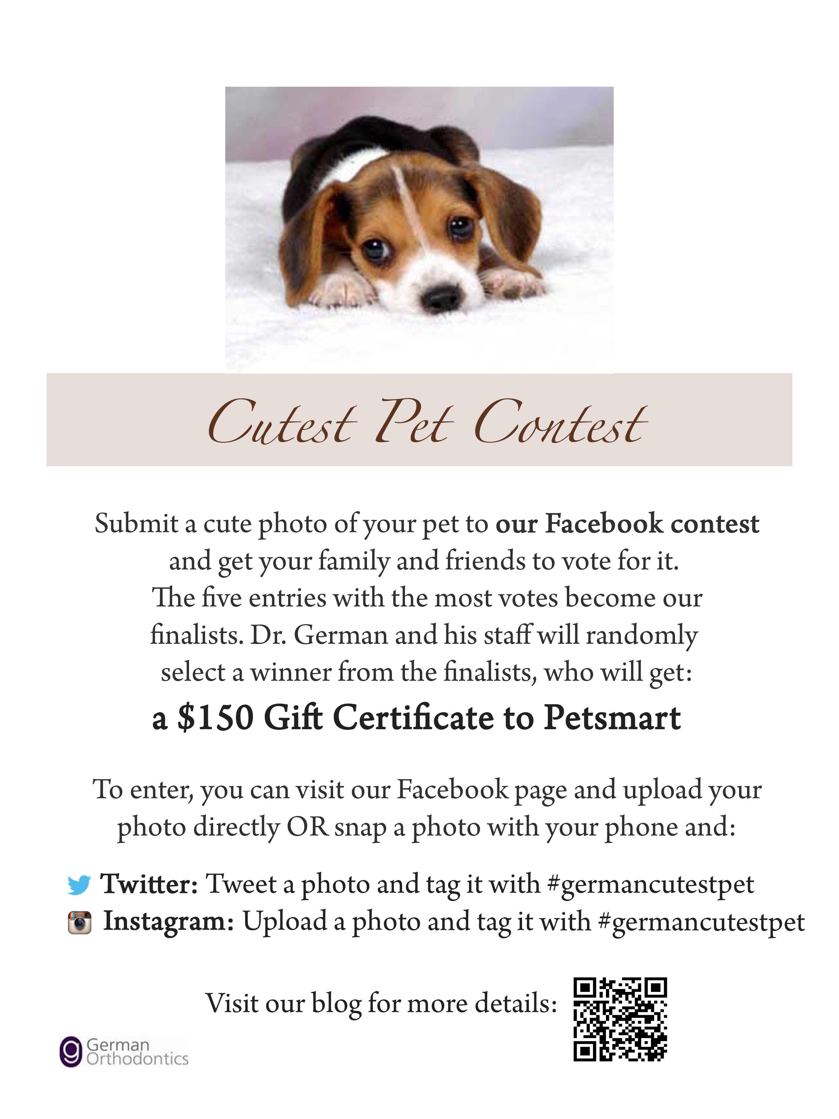 German Orthodontics is running a 2012 Cutest Pet Contest