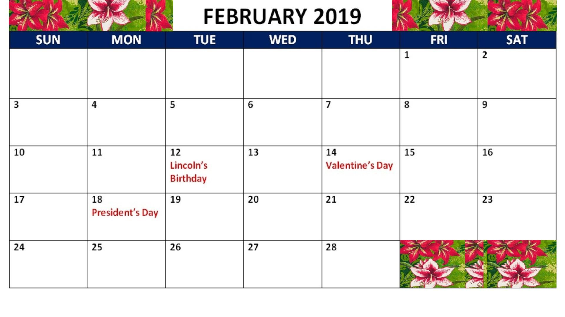 February Calendar 2021 Printable Notes And To Do List Holiday