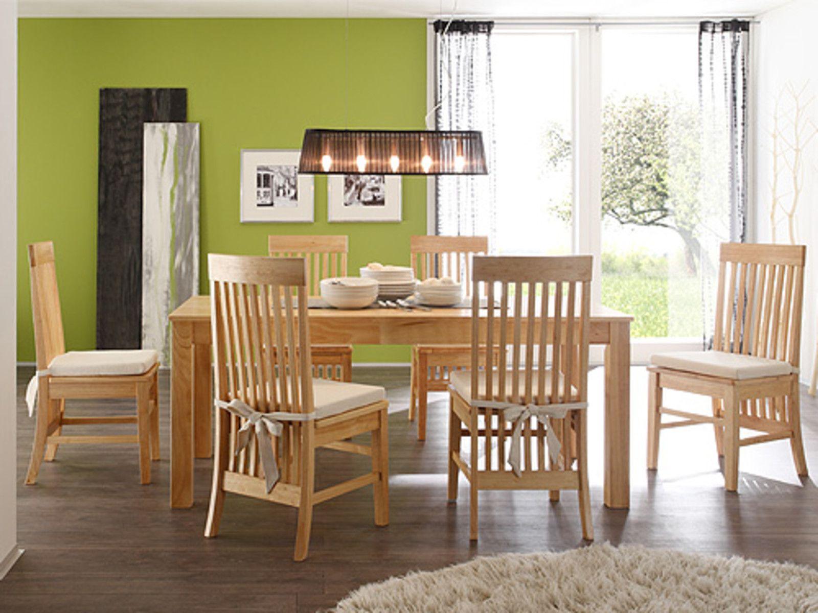 Esstisch Mit 6 Stühlen tisch 6 stühlen massiv rubberwood wohnstatt otten de