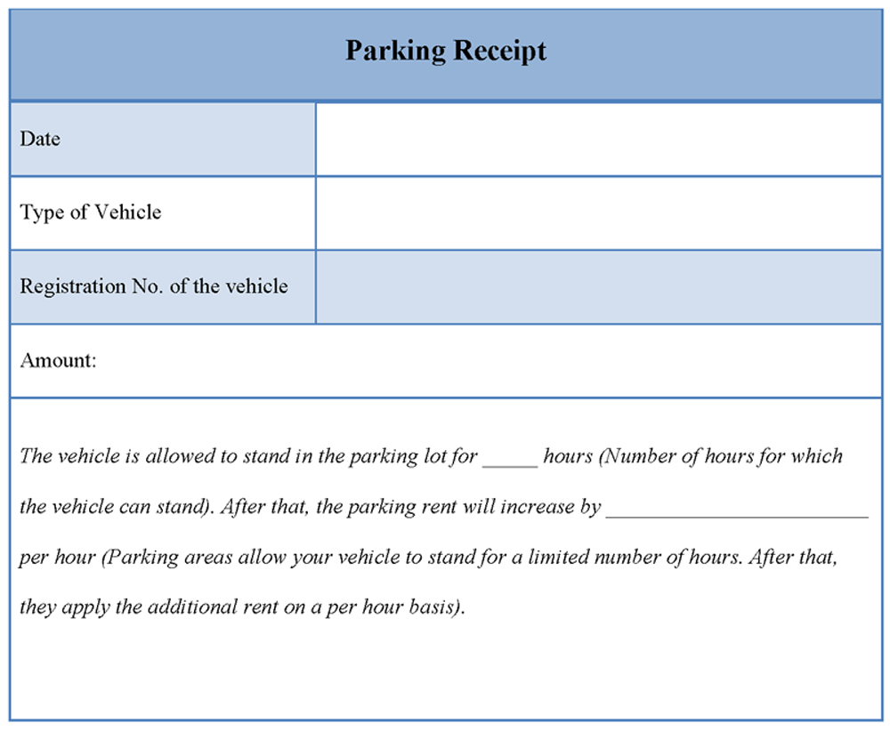 Parking Receipt Template Editable Docs Receipt Template Templates Receipt