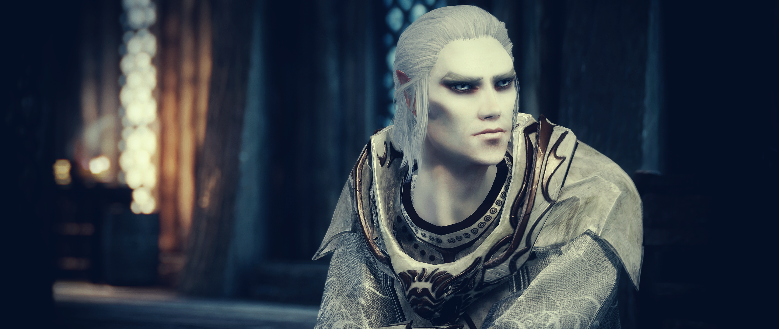 TDN Followers - Snow Elf Mage Follower - Lester at Skyrim Nexus