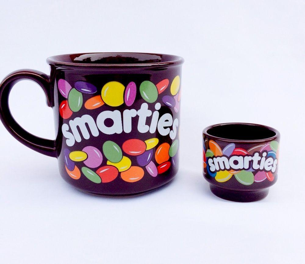 Smarties Mug & Egg Cup Exclusive Hornsea Retro Collectors Tea Coffee Sweets