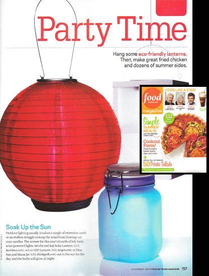 Perfect Soji Origional Solar Lantern In Food Network Magazine! Www.allsopgarden.com
