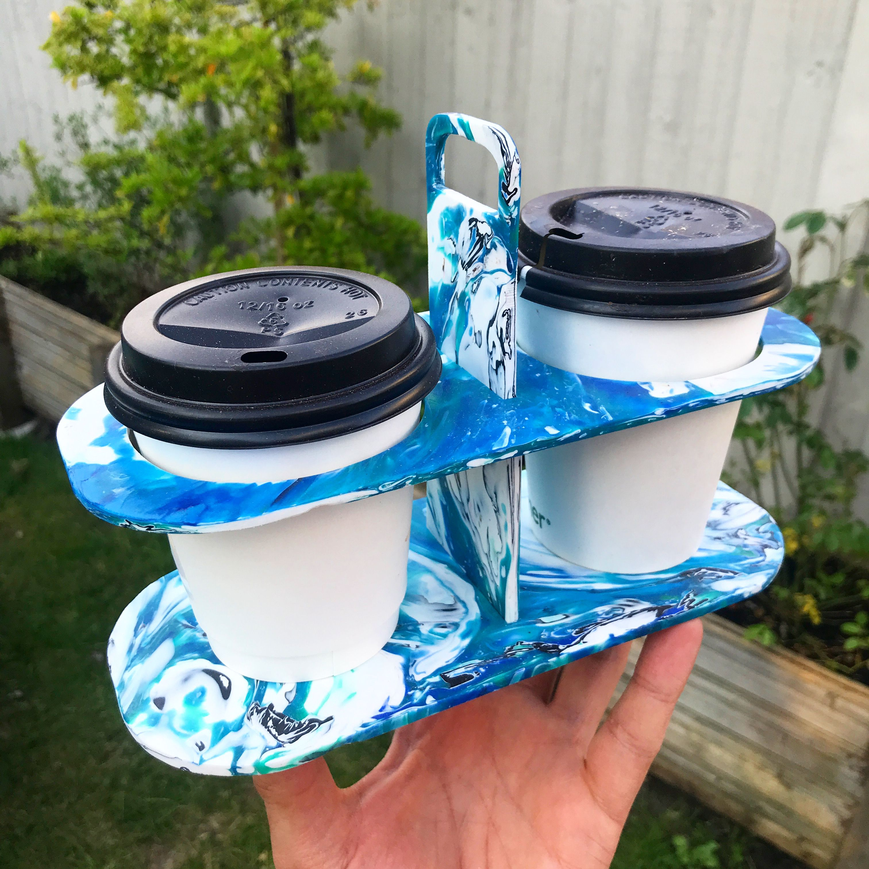 RECYCLED PLASTIC Coffee Cup Carrier in 2020 Recycled