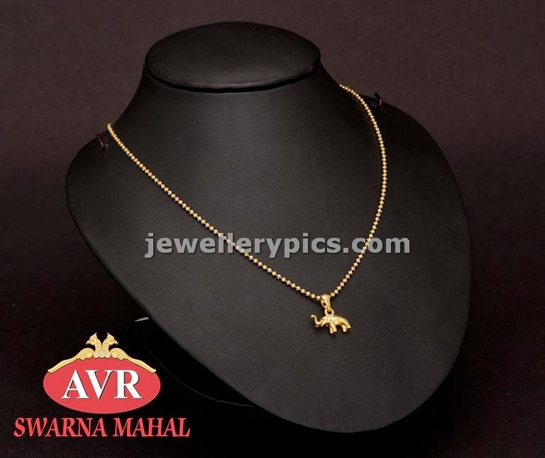 AVR swarnamahal kids gold chain designs - Latest Jewellery Designs ...
