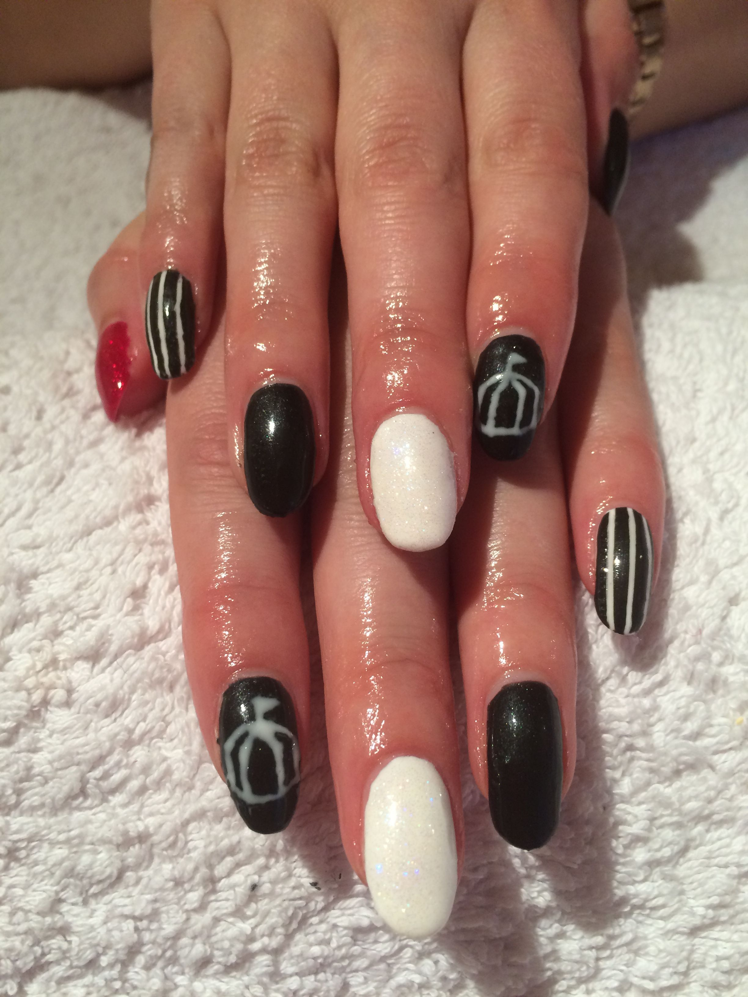 Night Circus nail art by Sarah Dailly - Absolute Beauty: https://www.facebook.com/ABSOLUTEBEAUTYEDIN