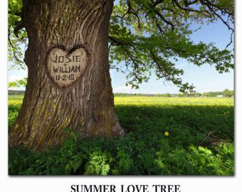 Special Order Picture Carved Tree Couples Names Your Name Carved