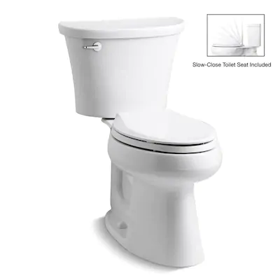 Kohler Cavata White Watersense Dual Flush Elongated Chair Height 2 Piece Toilet 12 In Rough In Size Lowes Com Water Sense Dual Flush Toilet Kohler