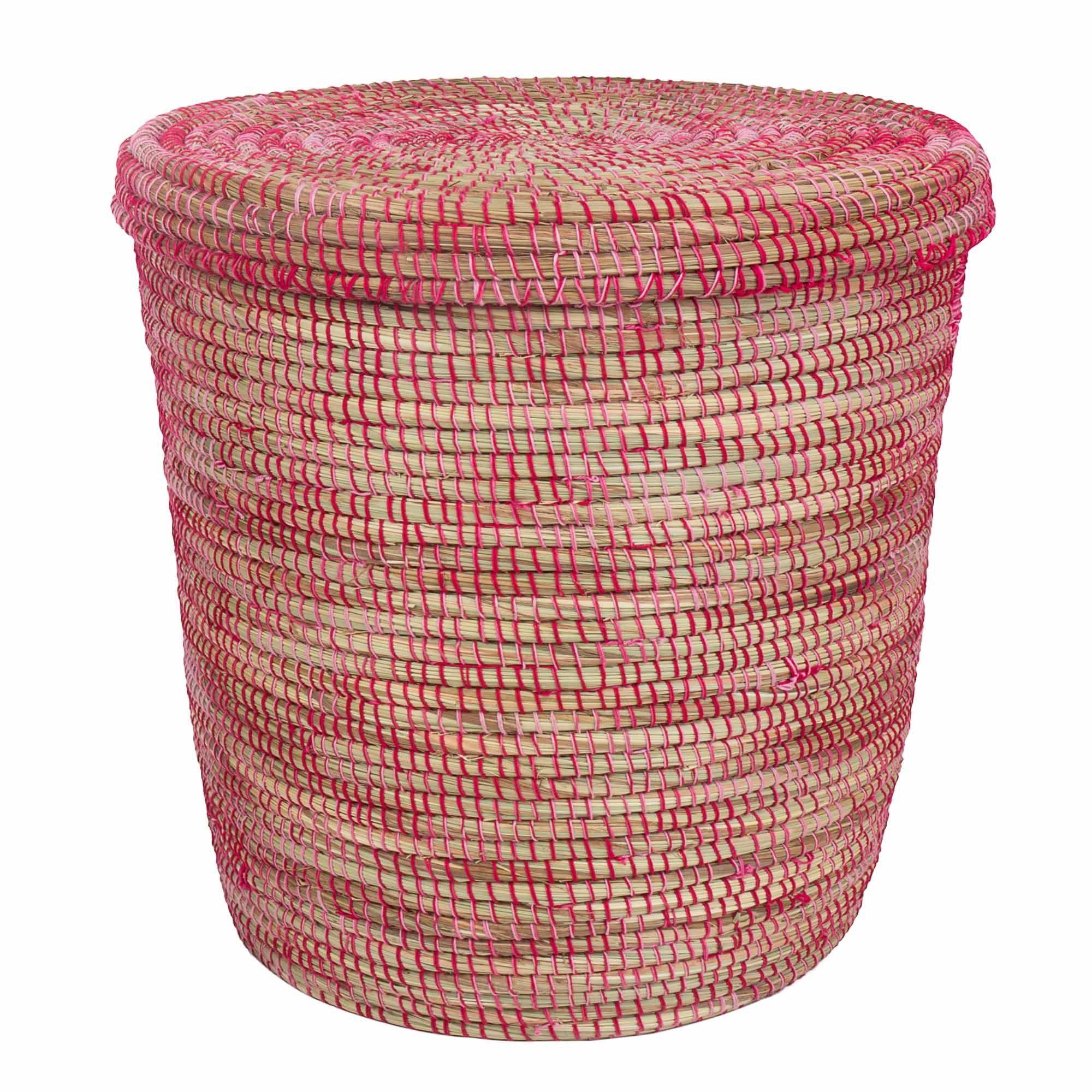 Kaedi Basket Natural Red Amp Amp Pink Basket Wicker Laundry