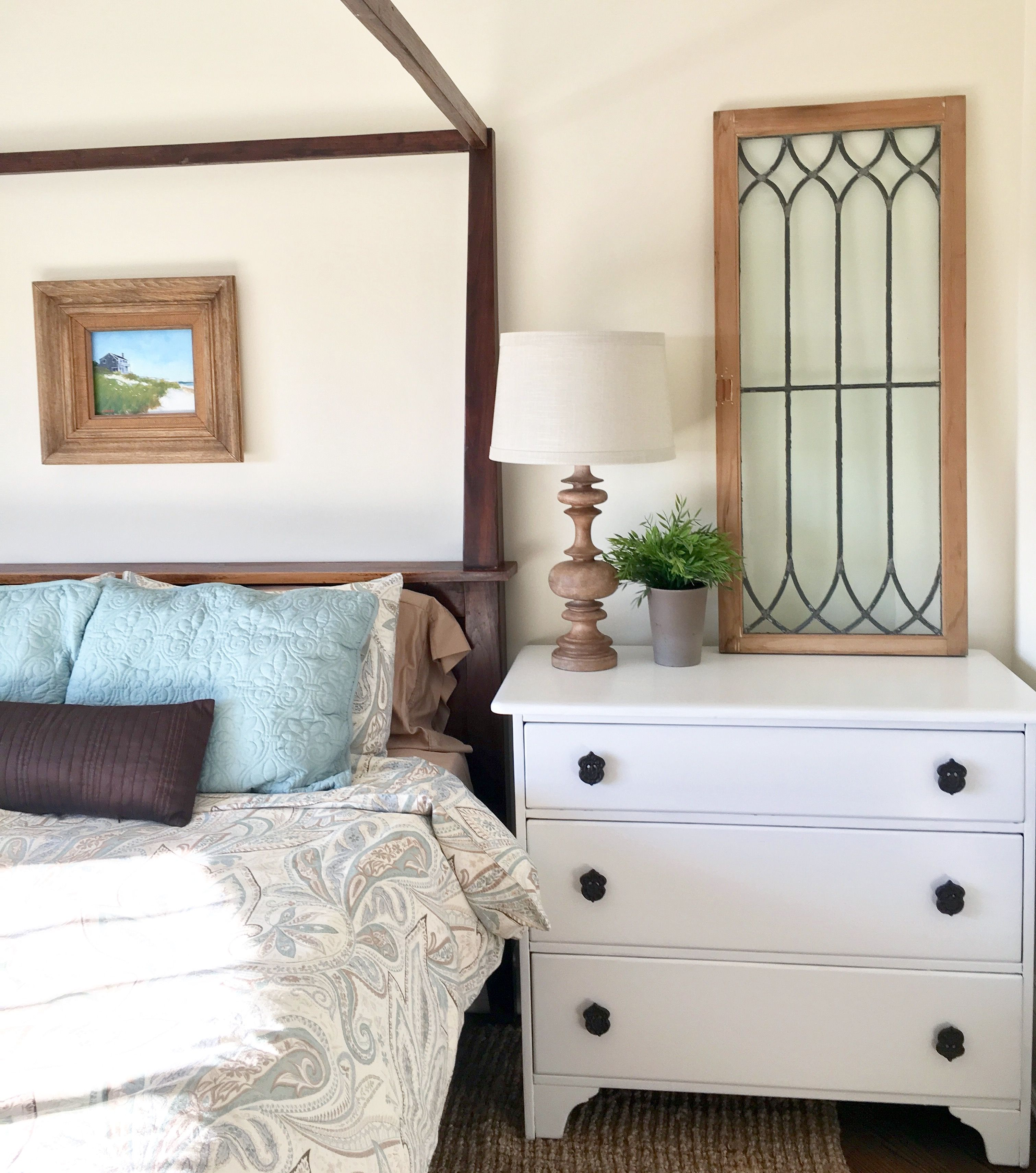 An Old Craigslist Dresser Turned Cottage Nightstand. (With