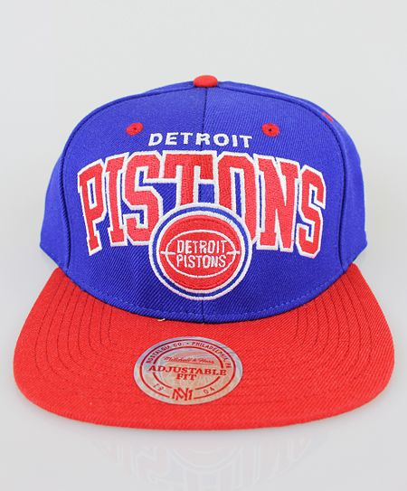 431cd83e514 Mitchell   Ness Team Arch 2 Tone Adjustable Detroit Pistons (NBA ...