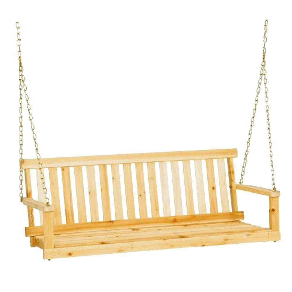 Swing porch patio elegant unfinished feet leigh country furniture