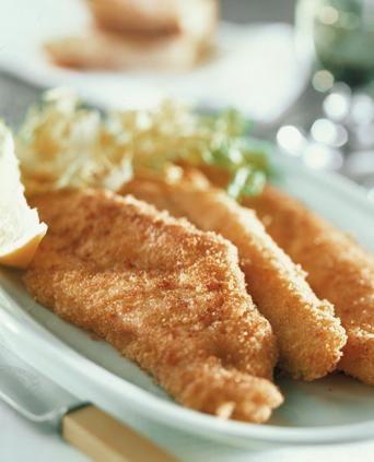 Filetti di pesce persico dorati