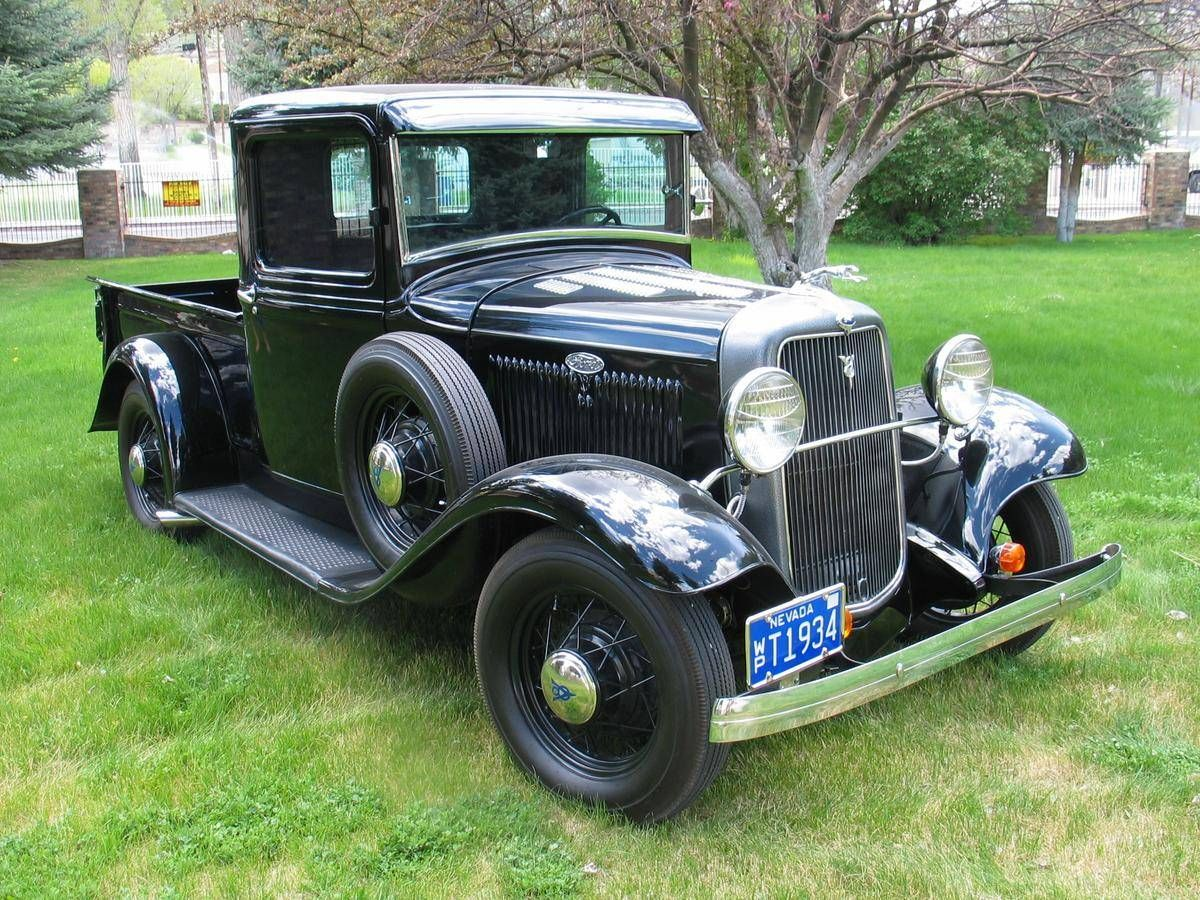 1934 Ford Pick Up For Sale 1791741 Classic Pickup Trucks Ford Pickup Vintage Trucks