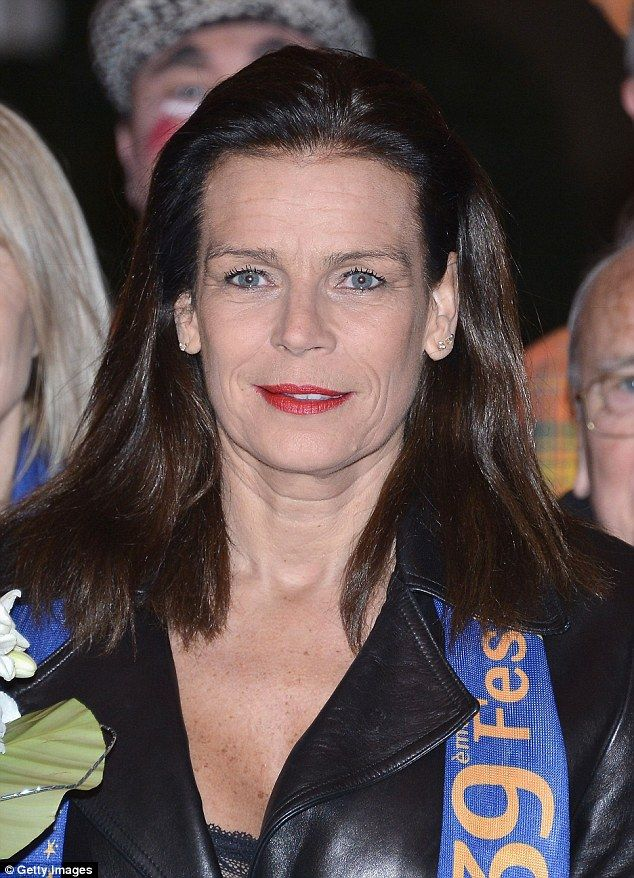 Natural beauty: Princess Stephanie looked radiant on her night out at the circus…