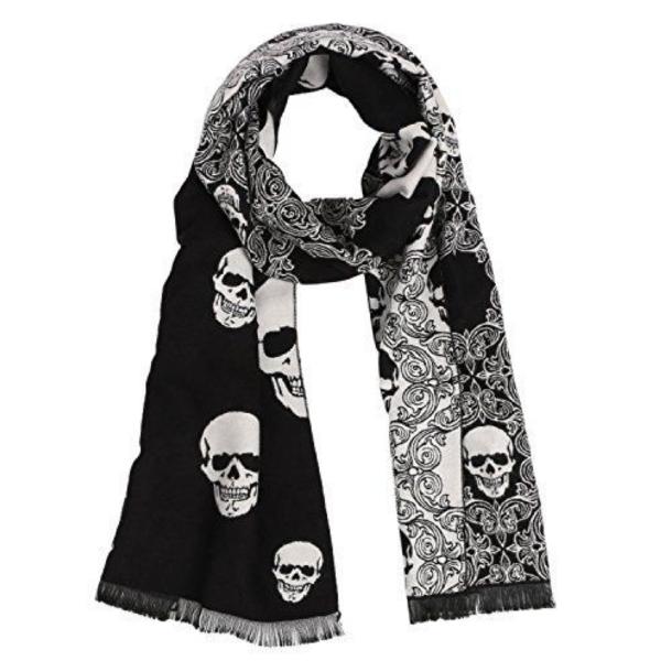 2018 hot neu Skull Head Scarf Neck Scarf Skull Design Square Scarf