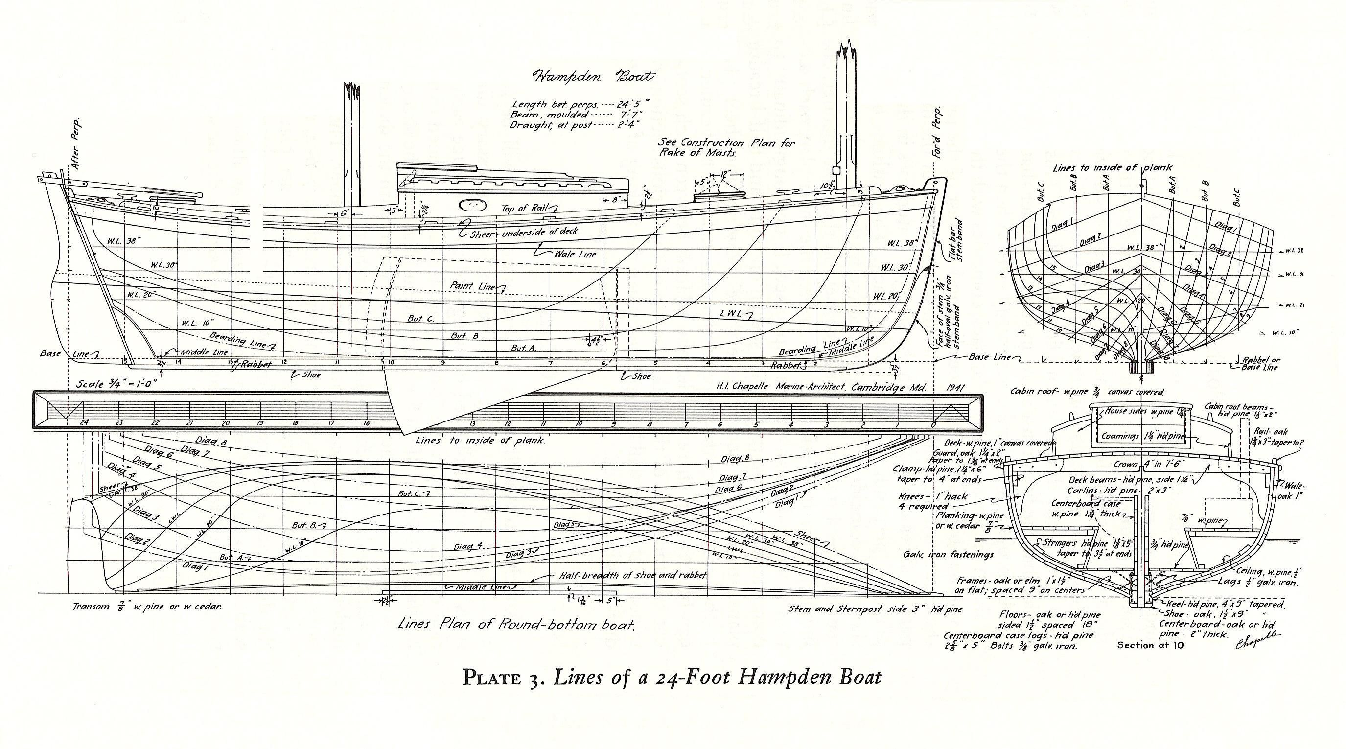 Boat Plans And Wooden Boat Building Plans Free Shipping ...